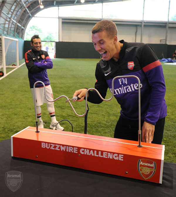 Arsenal Buzzwire Game
